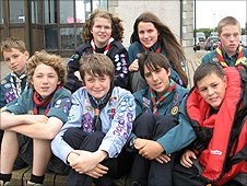 Liam was one of only eight scouts chosen to take part