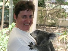 Sister Gemma Simmonds and koala bear