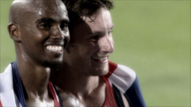 Mo Farah and Chris Thompson