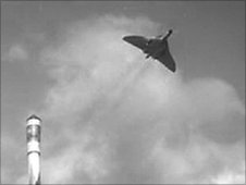 Vulcan bomber and rocket - Vulcan to the Sky Trust