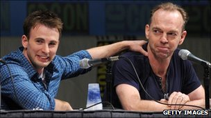 Chris Evans and Hugo Weaving