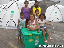 Mendosa family with their ShelterBox