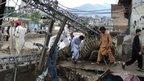 A fallen electricity pilon in a village. Photo: Furqan Ullah