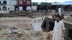 Village damaged by the floods. Photo: Furqan Ullah
