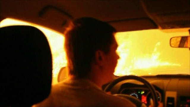 Driving into Russian fires