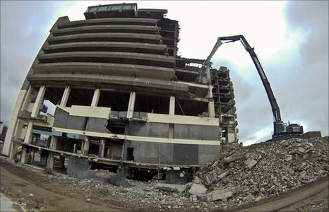 "Demolition of ""Get Carter"" car park. Picture: John Morris"