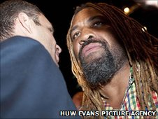 Vitali Klitschko and Shannon Briggs square up in Cardiff