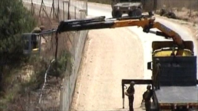 Israeli forces on the Lebanon border
