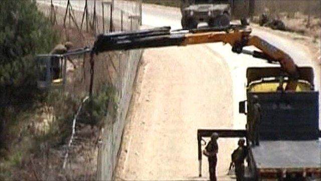 Israeli forces on the Lebanon border
