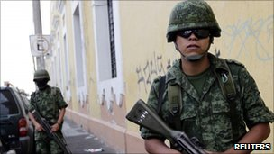 Mexican soldiers in Guadalajara, July 30 2010