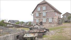 Army village at Epynt, Brecon, Powys