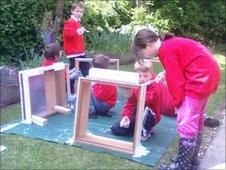 Bee Part Of It - Ickworth Park primary schoolchildren build a hive