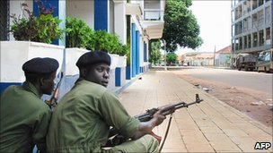 Government troops in Bissau - file pic