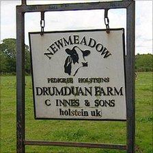 Sign outside Newmeadow Farm near Nairn