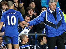 Joe Cole and Carlo Ancelotti