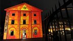 Sydney's Hyde Park Barracks Museum, lit up as part of the Vivid Sydney festival of light, music and ideas, file pic May 2010