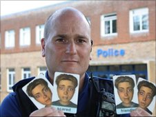 Frome PCSO Gary Maule with Face Cards