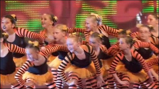 Kids performing at Eisteddfod festival in Wales