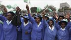 "Women cheer during a ""YES Vote"" campaign rally in the capital Nairobi August 1, 2010."