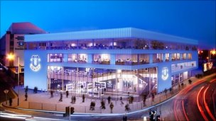 Artist's impression of the new development at Goodison Park