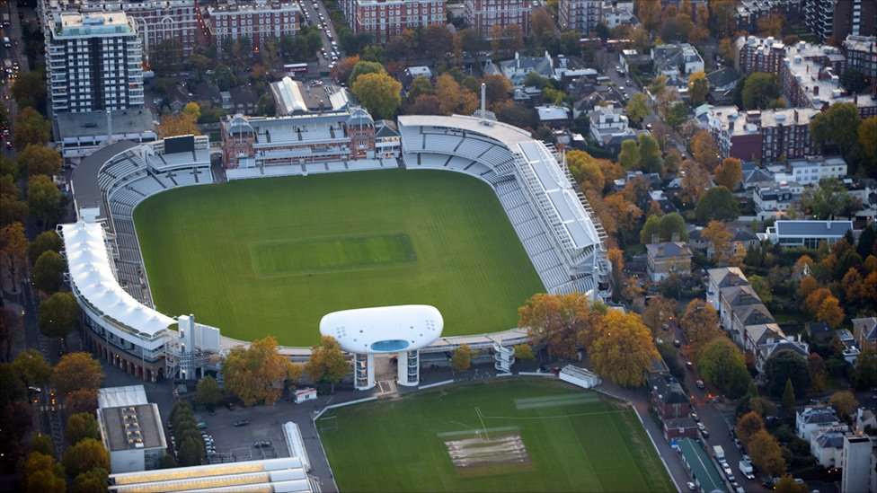Birds eye view of Lords Cricket Ground, located in St John ...