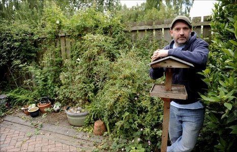 Dave Rotheray in his garden