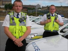 PCSO Simon Hartley and PCSO Chris Cahill