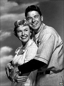 Doris Day and Ronald Reagan in 1952 film The Winning Team