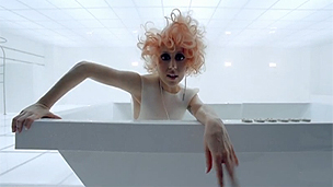 Still image from Lady Gaga's Bad Romance video