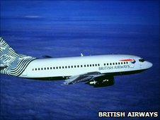 A British Airways Boeing 737 