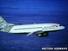 A British Airways Boeing 737