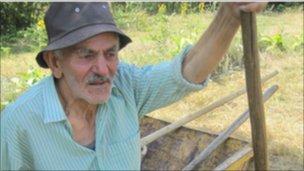 Georgian farmer Nikoloz Barishvili