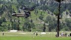 US Chinook helicopters arrive in Kalam to evacuate stranded tourists