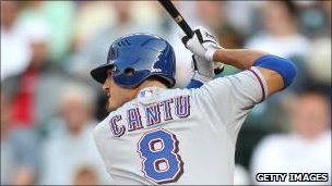 Jorge Cantu of the Texas Rangers bats