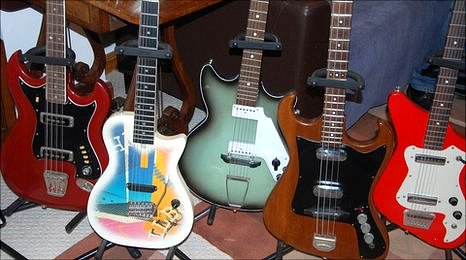 A few of Guy's guitars