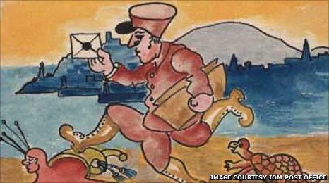 IOM Post Office Stamp