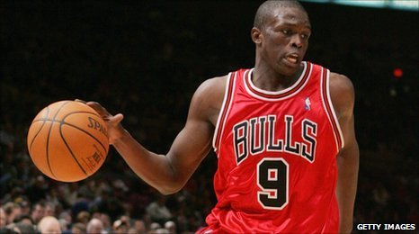 Luol in action for the Chicago Bulls