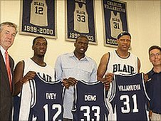 Blair Academy retire Luol's jersey