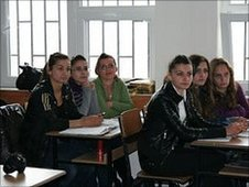 Majlinda in class