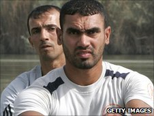 Haider and Hamza training