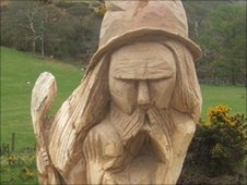 The 12 foot 'Wizard' at Sulby Glen