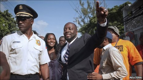 Wyclef Jean in Port-au-Prince, Haiti, on 5 August, 2010
