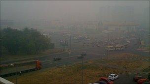 Moscow smog