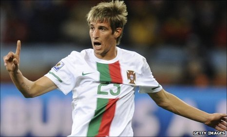 Fabio Coentrao in action for Portugal at the World Cup