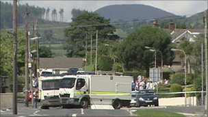 Scene of security alert in Kilkeel