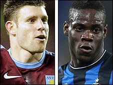 James Milner and Mario Balotelli
