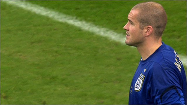 Paul Robinson playing for England