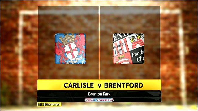 Carlisle 2-0 Brentford
