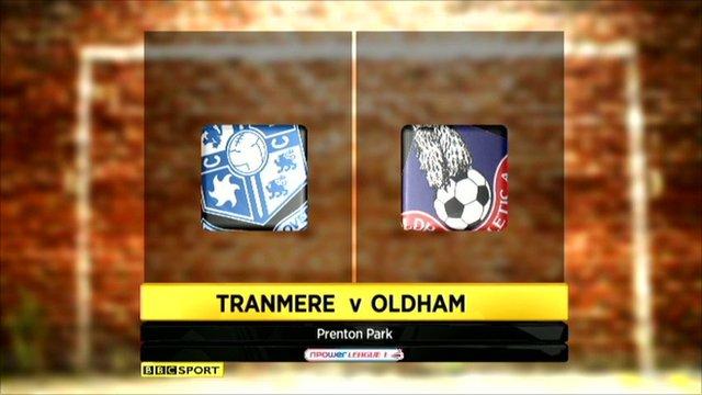 Tranmere 1-2 Oldham