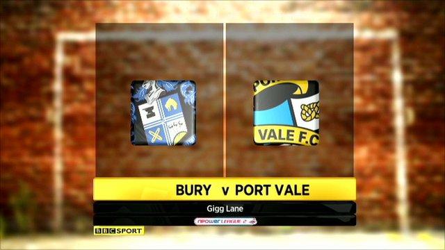 Bury v Port Vale